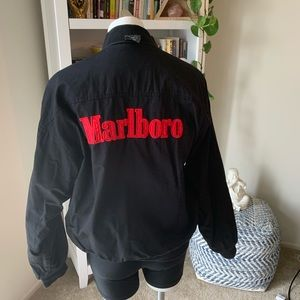 VTG Reversible MARLBORO Jacket 100% Cotton Mens M